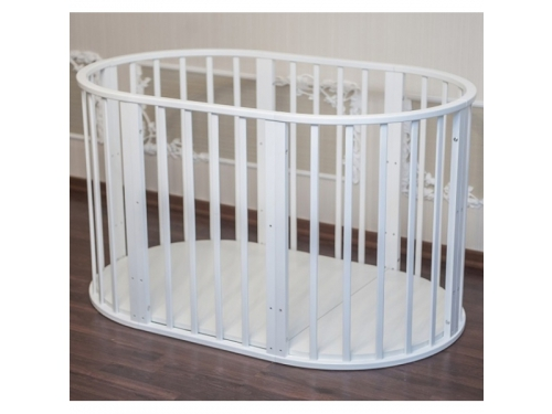 Детская кроватка Папа Карло 6 в 1 (трансформер), белая, вид 9
