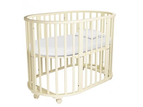 Детская кроватка Папа Карло 5 в 1 (трансформер), бежевая, вид 3