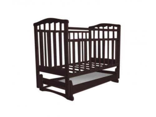 Детская кроватка Агат Золушка-4, шоколад, вид 2