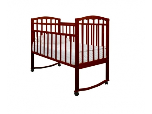 Детская кроватка Агат Золушка-1, вишня, вид 2