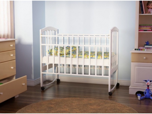 Детская кроватка Агат Золушка-1, вишня, вид 10