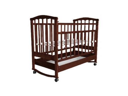 Детская кроватка Агат Золушка-2, орех, вид 4