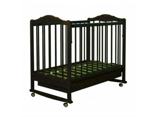Детская кроватка Агат Золушка-2, орех, вид 2