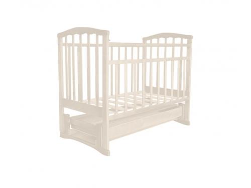 Детская кроватка Агат Золушка-6 (продольный маятник), шоколад, вид 2
