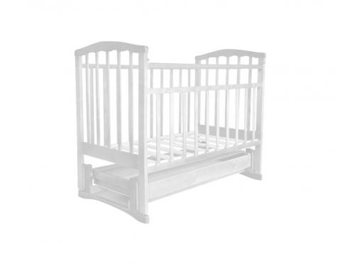 Детская кроватка Агат Золушка-6 (продольный маятник), шоколад, вид 3