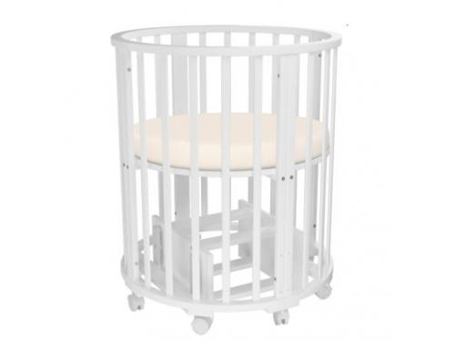 Детская кроватка Папа Карло 6 в 1 (трансформер), белая, вид 6