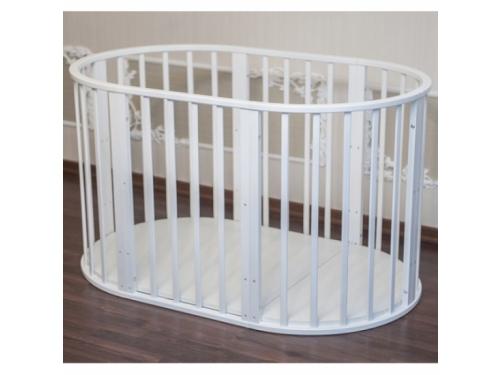 Детская кроватка Папа Карло 6 в 1 (трансформер), белая, вид 7