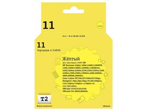 Картридж для принтера T2 IC-H4838, желтый, вид 1