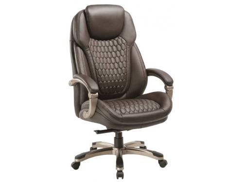 Кресло офисное Бюрократ T-9917 коричневое, вид 1