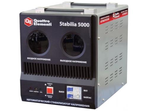 Стабилизатор напряжения Quattro Elementi Stabilia 5000, серый, вид 1