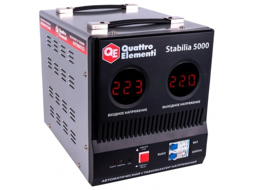 Стабилизатор напряжения Quattro Elementi Stabilia 5000, серый, вид 2