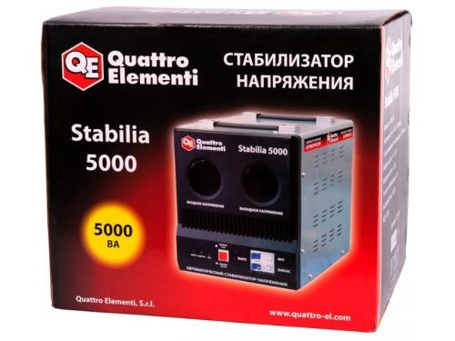 Стабилизатор напряжения Quattro Elementi Stabilia 5000, серый, вид 5