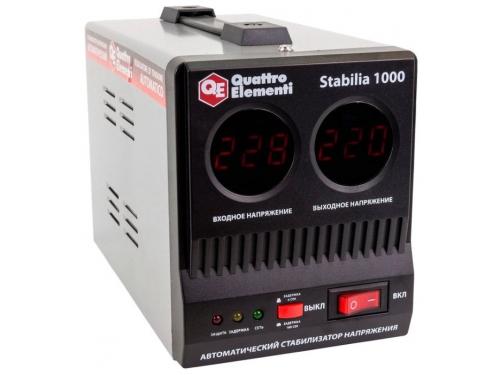Стабилизатор напряжения Quattro Elementi Stabilia 1000, серый, вид 1