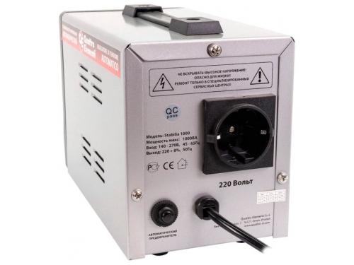 Стабилизатор напряжения Quattro Elementi Stabilia 1000, серый, вид 2