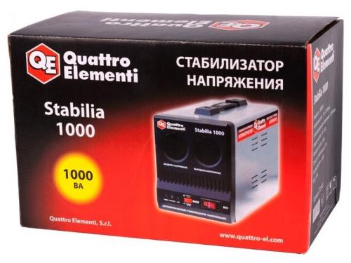 Стабилизатор напряжения Quattro Elementi Stabilia 1000, серый, вид 3