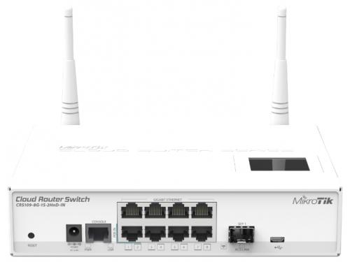 Роутер WiFi MikroTik CRS109-8G-1S-2HnD-IN (802.11n), вид 1