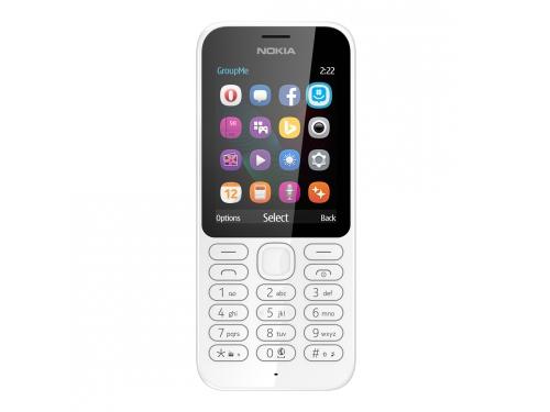 Сотовый телефон Nokia 222 DS белый, вид 1