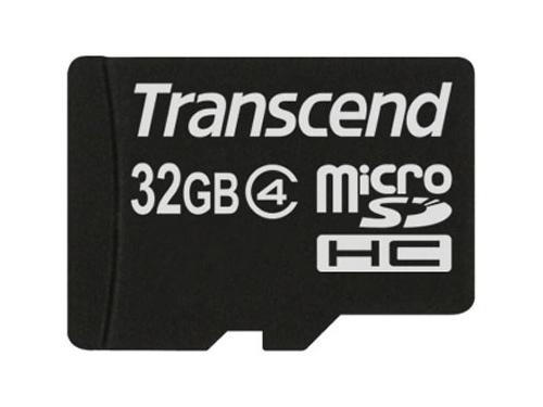 ����� ������ Transcend microSDHC 32Gb �lass 4 + SD �������, ��� 1