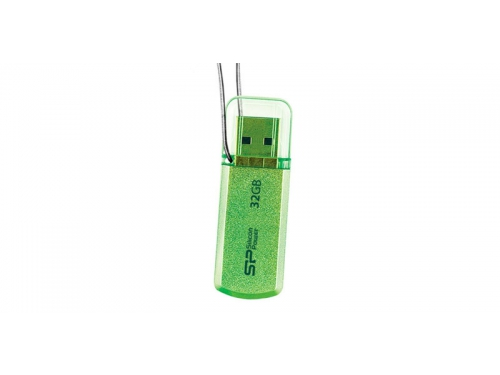 Usb-флешка Silicon Power Helios 101 32Gb, зеленая, вид 1