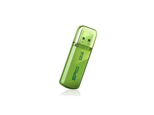 Usb-флешка Silicon Power Helios 101 32Gb, зеленая, вид 3