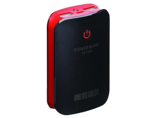 Аксессуар для телефона InterStep PB7800UBR, черный / красный, вид 1
