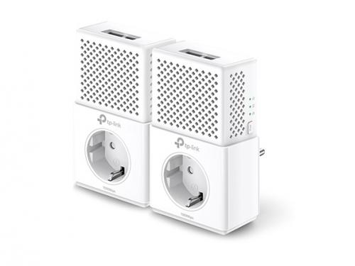 PowerLine-адаптер TP-Link TL PA7020P Kit, комплект адаптеров, вид 1
