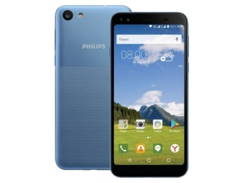 Смартфон Philips S395 2/16 Gb, светло-синий, вид 1