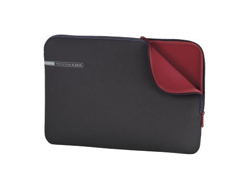 Сумка для ноутбука Чехол Hama Neoprene Notebook Sleeve 15.6, серый/красный, вид 1