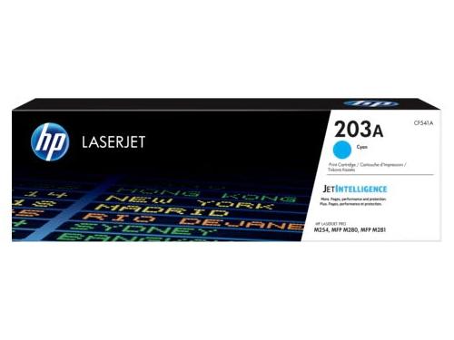 Картридж для принтера HP LaserJet 203A (CF541A), синий, вид 1