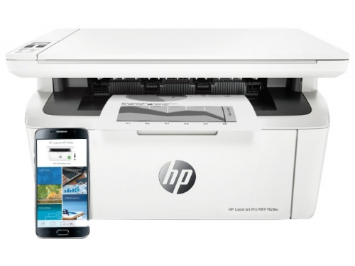 МФУ HP LaserJet Pro MFP M28w белый, вид 2