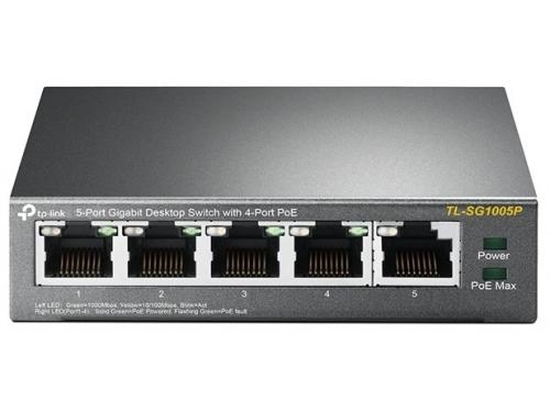 Коммутатор (switch) TP-Link TL-SG1005P неуправляемый, вид 2