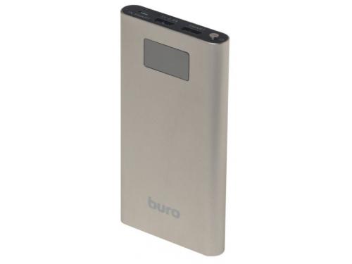 Аккумулятор универсальный Buro RA-10000-QC3.0-I&O 10000 мАч, золотистый, вид 1