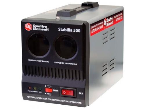 Стабилизатор напряжения Quattro Elementi Stabilia 500 (релейный), вид 1