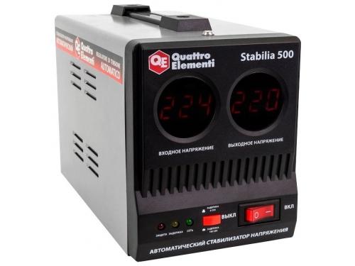 Стабилизатор напряжения Quattro Elementi Stabilia 500 (релейный), вид 2