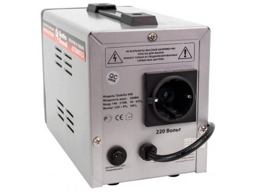 Стабилизатор напряжения Quattro Elementi Stabilia 500 (релейный), вид 3