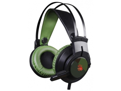 Гарнитура для ПК A4Tech Bloody J450, черно-зеленый, вид 1