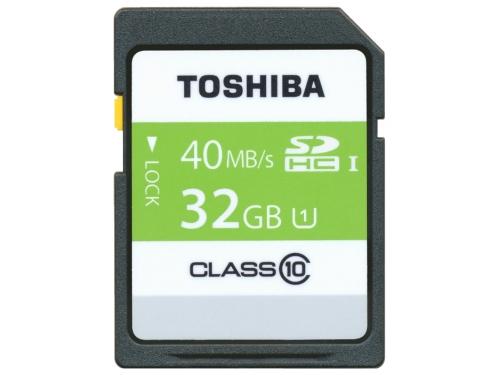 Карта памяти Toshiba SD-T032UHS1(6 (SDHC 32 Гб, U1, UHC-I), вид 1