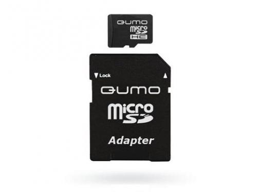 Карта памяти Qumo microSDHC 32Gb class 10 + SD-адаптер (QM32MICSDHC10), вид 2