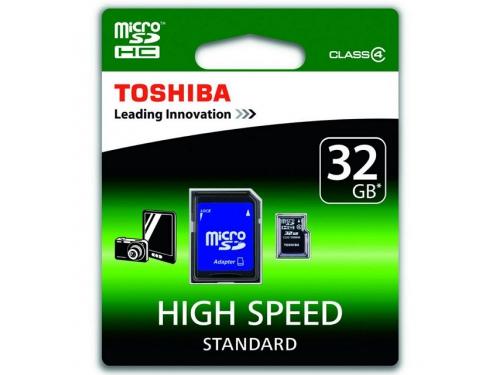 ����� ������ Toshiba C32GJ(6A (microSDHC 32Gb Class4 + SD-�������), ��� 1