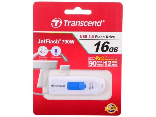 Usb-флешка Transcend JetFlash 790 16Gb, белая, вид 3