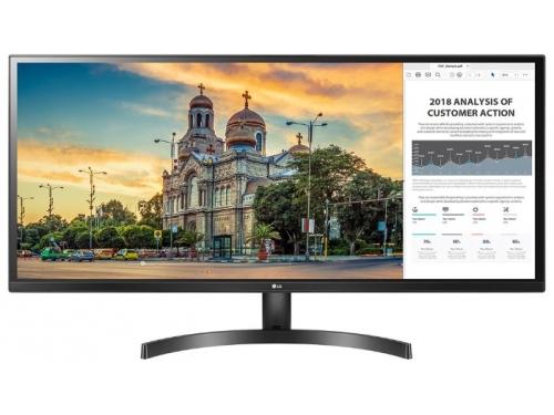 Монитор LG 34WK500-P LCD, черный, вид 2