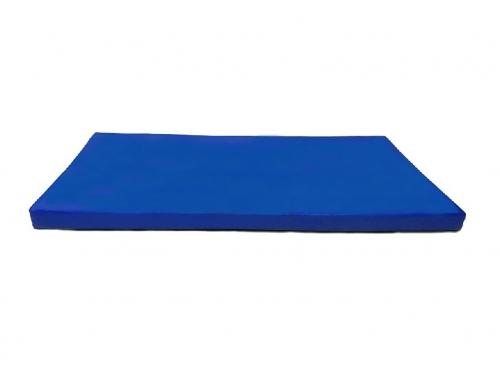 Мат гимнастический КМС № 9 (100 х 150 х 10) сине-жёлтый, вид 1