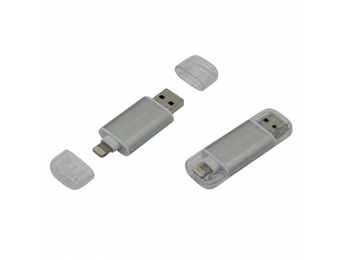 Usb-флешка Transcend (TS128GJDG300S) JetFlash Go USB3.1/Lightning, 128Gb, вид 1