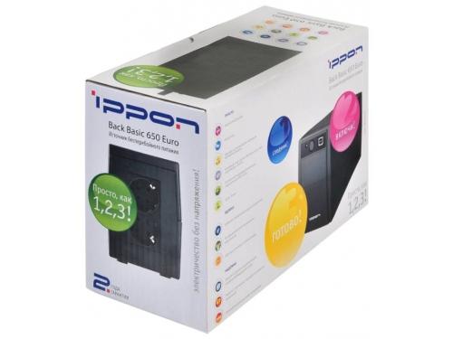 Источник бесперебойного питания Ippon Back Basic 650 Euro, 390Вт 650ВА, вид 5