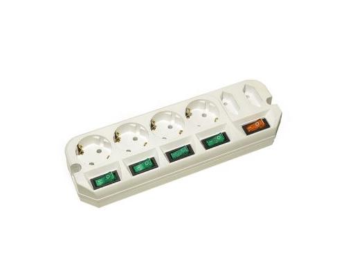 Сетевой фильтр Удлинитель Most A16 3 м (6 розеток) белый, вид 1