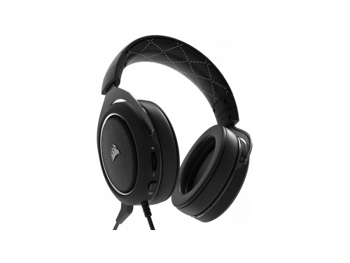 Гарнитура для ПК Corsair HS60 Stereo Gaming Headset white, черные с белым, вид 1