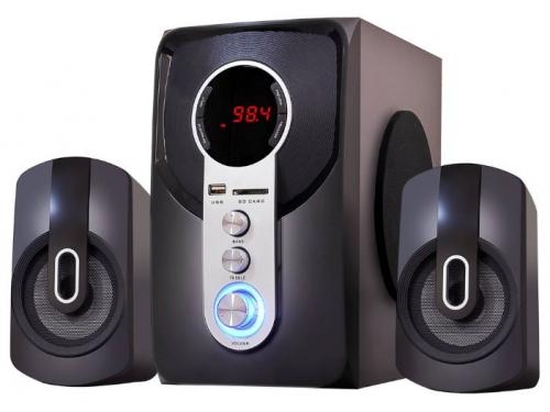 Акустическая система Ginzzu GM-405 с Bluetooth, черная, вид 1