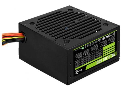 Блок питания компьютерный AeroCool VX Plus 500W ATX12V 2.3, fan 12 cm, вид 3