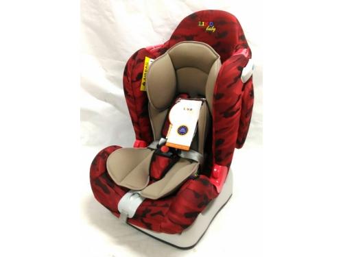 Автокресло детское Liko Baby LB-510 (до 25 кг), красное/камуфляж, вид 1