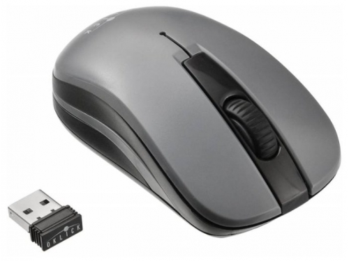 Мышь Oklick 445MW USB черная/серая, вид 2